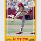 1988 Score Baseball #497 Jeff Montgomery RC - Cincinnati Reds