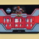 2008 Topps Triple Threads Pro Bowl Patches #TTPBP24 Chad Johnson - Bengals 3 Color Game-Used 9/9