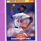 1989 Score Baseball #635 Ramon Martinez RC - Los Angeles Dodgers