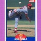 1989 Score Baseball #618 Rob Dibble RC - Cincinnati Reds