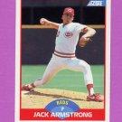 1989 Score Baseball #462 Jack Armstrong RC - Cincinnati Reds