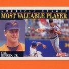 1992 Score Baseball #788 Cal Ripken MVP - Baltimore Orioles