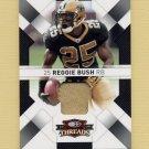 2009 Donruss Threads Jerseys Prime #64 Reggie Bush - Saints Game-Used Jersey Patch /50