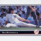 1992 Leaf Baseball #057 Don Mattingly - New York Yankees