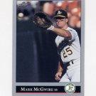 1992 Leaf Baseball #016 Mark McGwire - Oakland A's