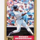 1987 Topps Baseball #735 Rickey Henderson - New York Yankees