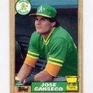 1987 Topps Baseball #620 Jose Canseco - Oakland A's