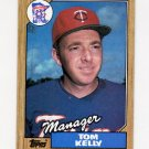 1987 Topps Baseball #618 Tom Kelly MG / Minnesota Twins Team Checklist