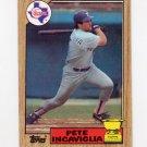1987 Topps Baseball #550 Pete Incaviglia RC - Texas Rangers