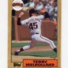 1987 Topps Baseball #536 Terry Mulholland RC - San Francisco Giants