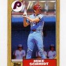 1987 Topps Baseball #430 Mike Schmidt - Philadelphia Phillies