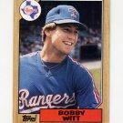 1987 Topps Baseball #415 Bobby Witt RC - Texas Rangers