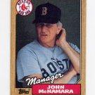1987 Topps Baseball #368 John McNamara MG / Boston Red Sox Team Checklist