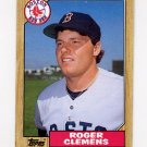 1987 Topps Baseball #340 Roger Clemens - Boston Red Sox