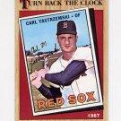 1987 Topps Baseball #314 Carl Yastrzemski TBC - Boston Red Sox