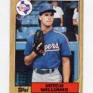 1987 Topps Baseball #291 Mitch Williams RC - Texas Rangers