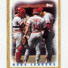 1987 Topps Baseball #281 Cincinnati Reds Team Leaders / Pete Rose