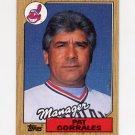 1987 Topps Baseball #268 Pat Corrales MG / Cleveland Indians Team Checklist