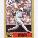 1987 Topps Baseball #261 Ruben Sierra RC - Texas Rangers