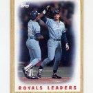 1987 Topps Baseball #256 Kansas City Royals Team Leaders / George Brett