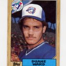 1987 Topps Baseball #153 Duane Ward RC - Toronto Blue Jays