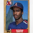 1987 Topps Baseball #139 Devon White RC - California Angels NM-M