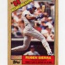 1987 Topps Baseball #006 Ruben Sierra RB - Texas Rangers
