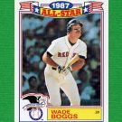 1988 Topps Baseball Glossy All-Stars #04 Wade Boggs - Boston Red Sox