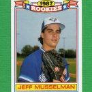 1988 Topps Baseball Rookies #22 Jeff Musselman - Toronto Blue Jays