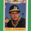 1988 Topps Baseball Rookies #15 Terry Steinbach - Oakland A's