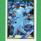 1988 Topps Baseball #750 Bo Jackson - Kansas City Royals