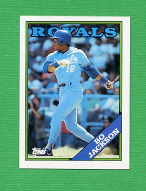 1988 Topps Baseball #750 Bo Jackson - Kansas City Royals