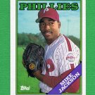 1988 Topps Baseball #651 Mike Jackson RC - Philadelphia Phillies