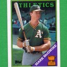 1988 Topps Baseball #580 Mark McGwire - Oakland A's NM-M