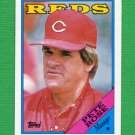 1988 Topps Baseball #475 Pete Rose MG / Cincinnati Reds Team Checklist