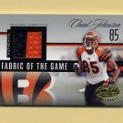 2006 Leaf Certified Materials Fabric of the Game Prime #079 Chad Johnson - Game-Used JSY Patch /25