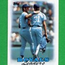 1988 Topps Baseball #141 Kansas City Royals Team Leaders / George Brett / Bret Saberhagen