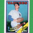1988 Topps Baseball #018B Al Leiter RC - New York Yankees