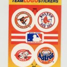 1991 Fleer Baseball Team Logo Stickers Orioles / Red Sox / Reds / Astros