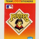 1991 Fleer Baseball Team Logo Stickers The Pittsburgh Pirates