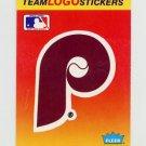 1991 Fleer Baseball Team Logo Stickers The Philadelphia Phillies Team Logo