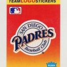1991 Fleer Baseball Team Logo Stickers The San Diego Padres Team Logo