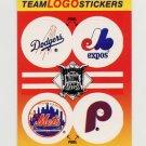 1991 Fleer Baseball Team Logo Stickers Dodgers / Expos / Mets / Phillies Team Logos