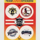 1991 Fleer Baseball Team Logo Stickers Pirates / Cardinals / Padres / Giants Team Logos