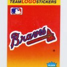1991 Fleer Baseball Team Logo Stickers The Atlanta Braves Team Logo