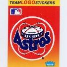 1991 Fleer Baseball Team Logo Stickers The Houston Astros Team Logo