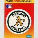 1991 Fleer Baseball Team Logo Stickers The Oakland A's Team Logo