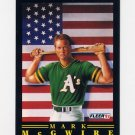 1991 Fleer Baseball Pro-Visions #04 Mark McGwire - Oakland A's