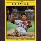 1991 Fleer Baseball #689 Tom Glavine - Atlanta Braves