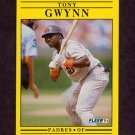 1991 Fleer Baseball #529 Tony Gwynn - San Diego Padres
